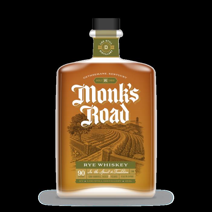 Monk's Road Rye Whiskey bottle